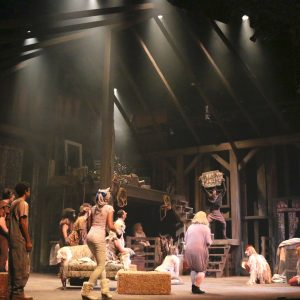 Directed by William Brown Scenic Design by Ellen Mizener Lighting Design by Lynsey Manley Costume Design by Leah Smith