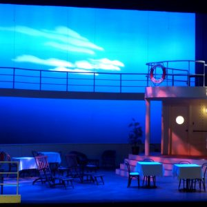 Rough Crossing Mainstage Irving-Las Colinas Scenic Design by Ellen Mizener Directed by Kelly Scott Lighting Design by Sam Nance