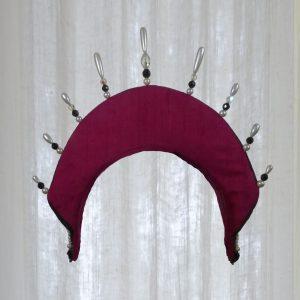 Renaissance-style headdress, back