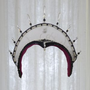 Renaissance-style headdress, front